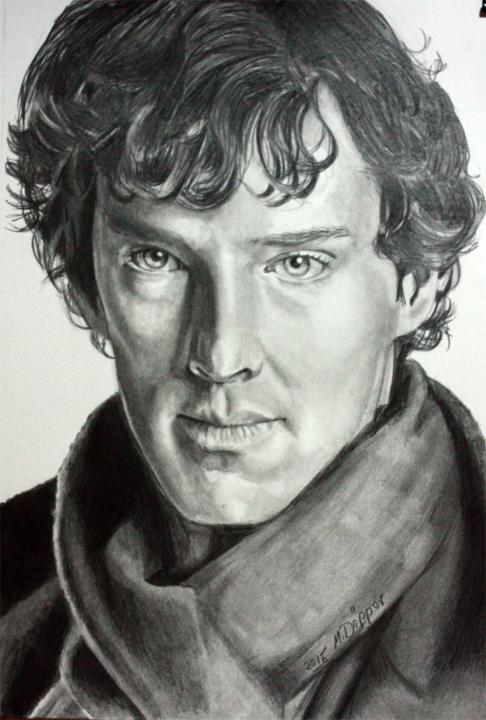 Benedikt Cumberbatch, Pencil on paper