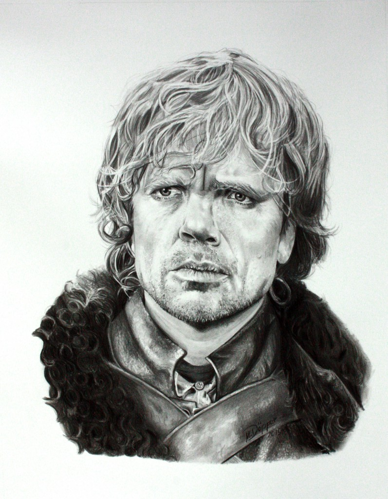 Tyrion Lennister, pencil and Polychromos